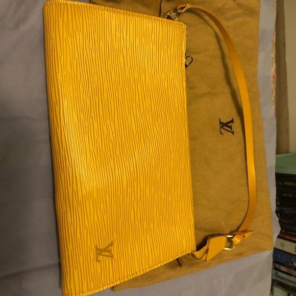 Louis Vuitton Handbags - Louis Vuitton Pochette Epi leather clutch